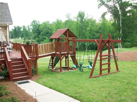 wooden sets backyard backyard playground crafted wooden playsets swing