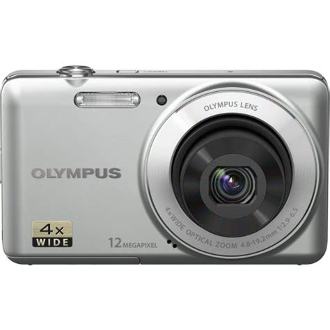olympus vg 110 12 mp digital with 4x wide zoom lens 27mm and 2 7 inch lcd silver 74 95