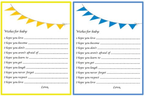 wishes for baby card templates craftivity designs bows bow ties shower the