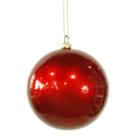 christmas tree balls vickerman 28516 4 quot red candy finish ball christmas tree