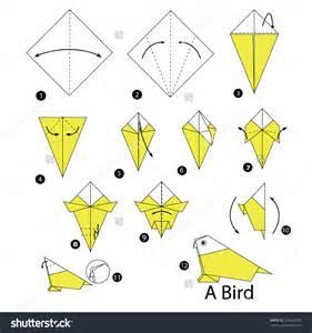 Origami Bird origami steps to make a origami bird easy origami origami