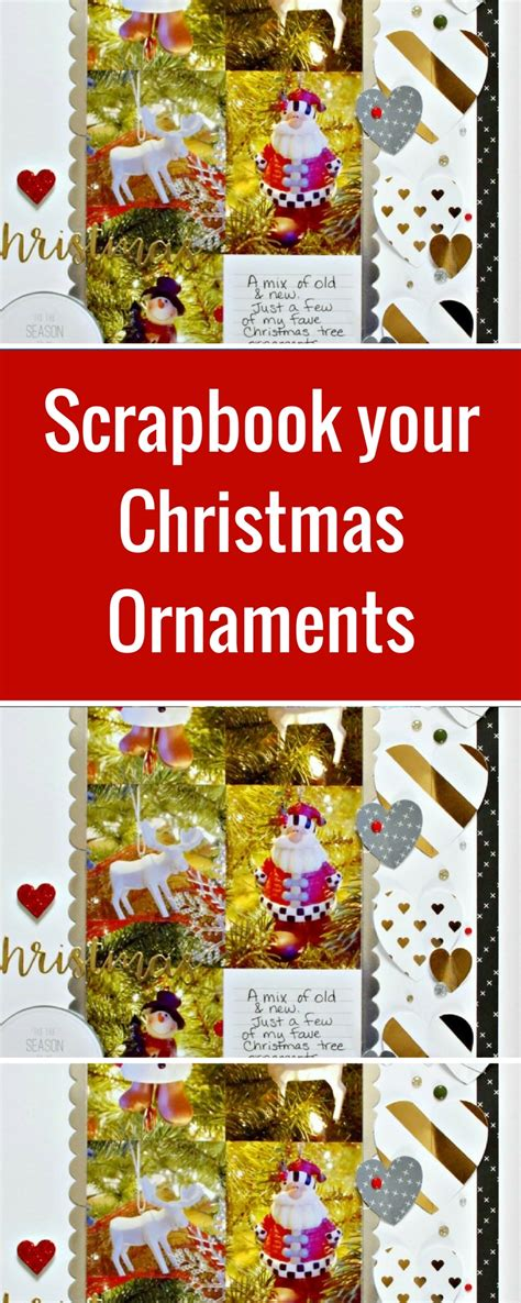 christmas ornament themed scrapbook layout designed by