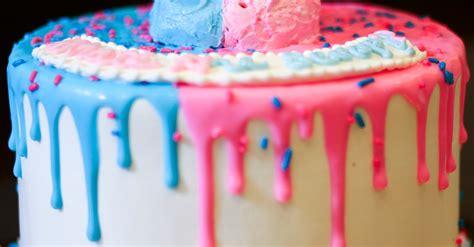girl   boy    gender reveal cake