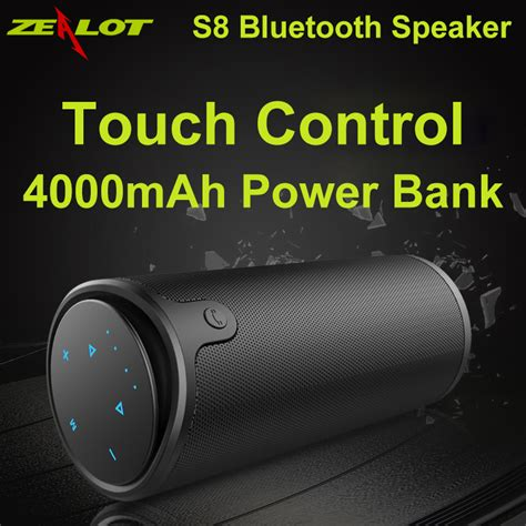 Speaker Zealot zealot s8 wireless bluetooth speaker touch panel 4000mah battery silicon cover portable
