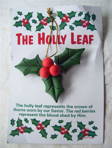holly leaf ornament christmas holiday meaning of the