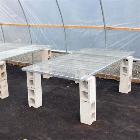 greenhouse benches commercial expanded metal bench top panel 4 w x 8 l growers supply