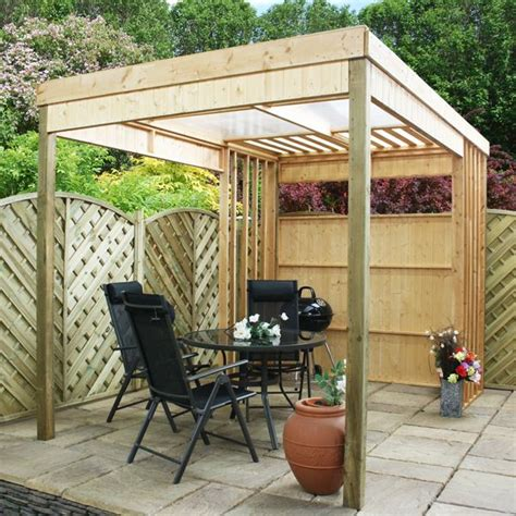 backyard shelters 11 x 7 waltons contemporary garden shelter with bbq area