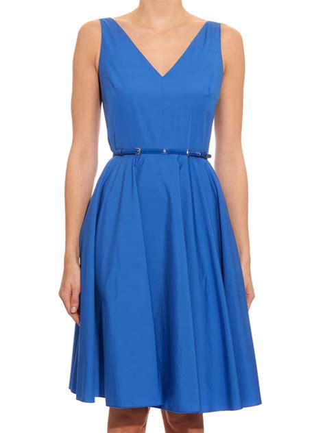 Maxmara Blue 1 max mara studio asiago dress in blue lyst