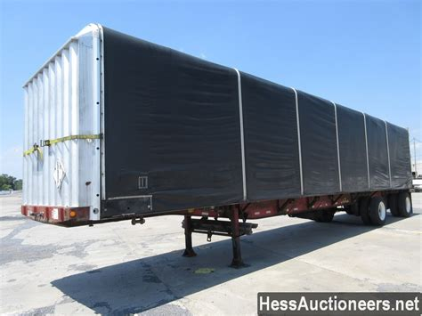 curtain trailers for sale used 2000 fontaine conestoga kit curtain side trailer for