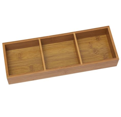 Bamboo Drawers by Bamboo Drawer Organizer Three Partition In Closet Drawer Organizers