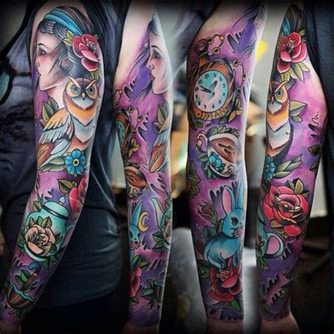 colour sleeve tattoo designs 90 terrific sleeve tattoos designs for and