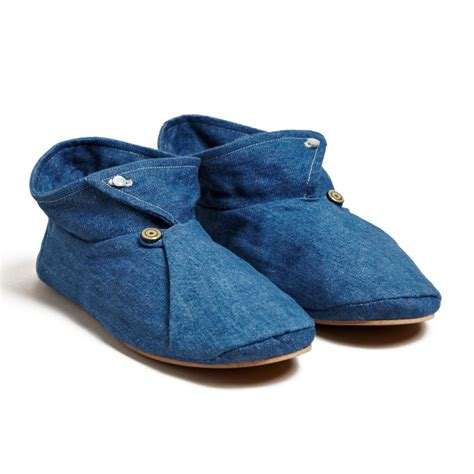 cool slippers unisex denim and silk slippers cool