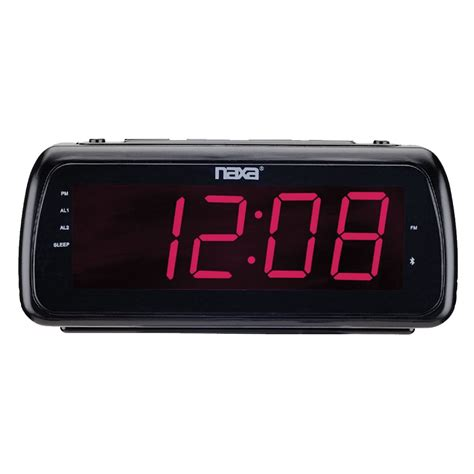 naxa 97091500m easy read dual alarm clock radio with usb charge port shop your way