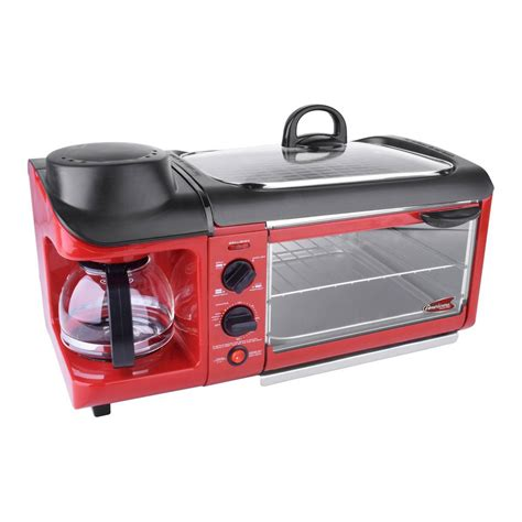Logo Toaster Red Countertop Breakfast Combo Toaster Oven Ebk 1782r