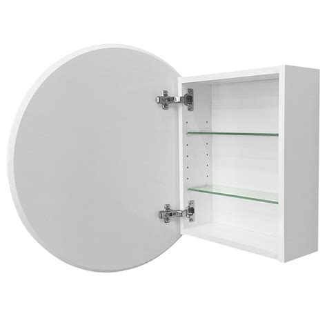 bathroom mirror cabinet round cibo design 600mm white circle mirror cabinet bunnings