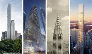 tower ny mapping the rise of new york city s 20 supertall towers