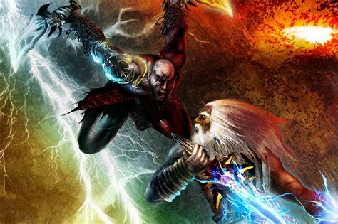 imagenes epicas de kratos god of war kratos vs zeus wallpaper god of war