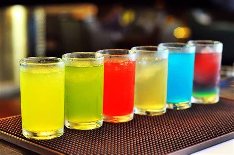 wallpaper warna warni makanan gelas minum jus koktil