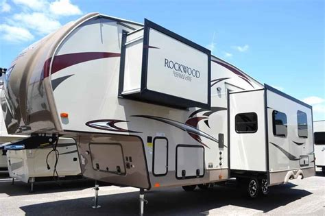 ultra light fifth wheel trailers 2018 forest river rockwood signature ultra lite 8298ws