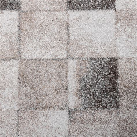 teppich klein teppich wohnzimmer klein kariert beige grau design teppiche