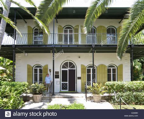 hemingway home key west the hemingway house in key west florida stock photo