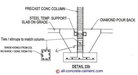 pier vs column precast concrete connection between column and footing