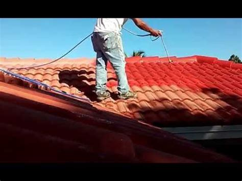 spray painting roof spray techniques how painting roof tiles using an airless