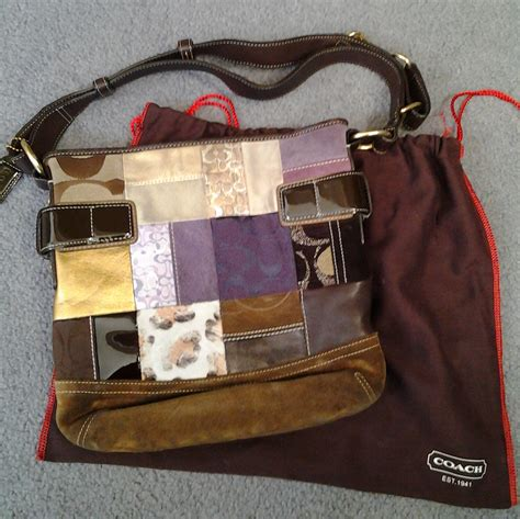 Coach Purse Patchwork - coach patchwork purse on storenvy