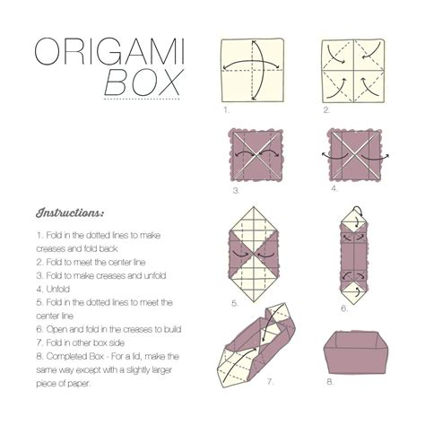 Origami Box Simple - simple easy origami box comot