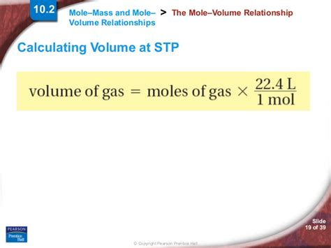 section 10 1 the mole a measurement of matter answers chapter10 section02 mole mass and mole volume