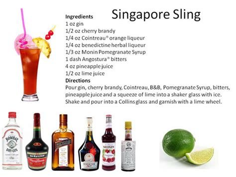 the singapore sling recipe dishmaps