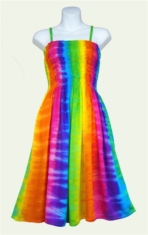 sarongsetc striped tie dye shirred top sun dress