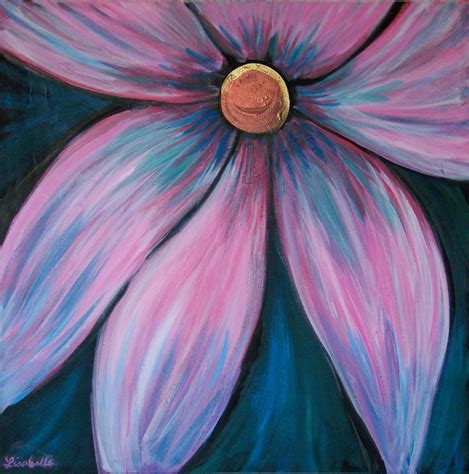 acrylic paint flowers easy acrylic flower paintings