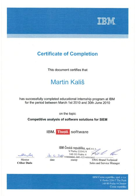 Ibm Mba Intern by Ibm Internship Competitive Analysis Of Software