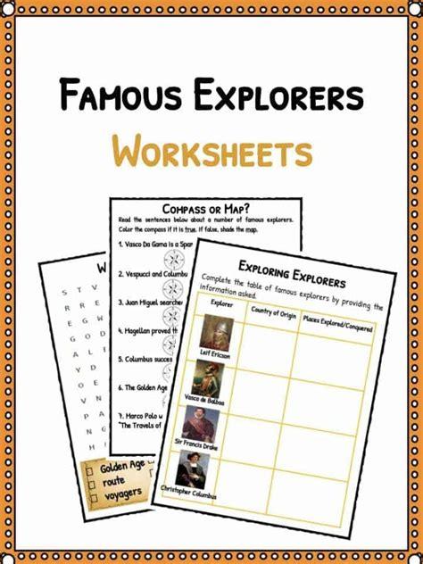 Explorers Worksheets by Explorers Worksheet For Kindergarten Explorers Best Free