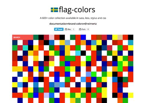 flag colors flag colors a 600 color collection available in sass