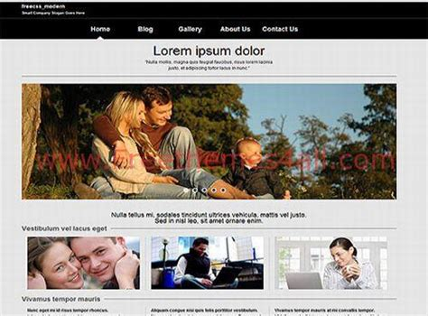 Family Gray Css Jquery Web Template Freethemes4all Free Family Website Templates