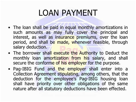 pag ibig housing loan monthly payment pag ibig fund housing loan monthly billing statement 28