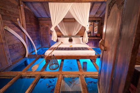Glass Floor House by Glass Floor Aquarium Bedroom Interior Design Ideas