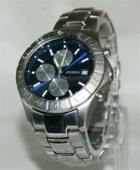 F Ssil Speedy Fossil Blue Series S Ch2332 Speedway Chronograph Ss