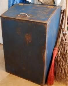 Kitchen Cabinet Trash Bin primitive garbage can trash bin cupboard cover by