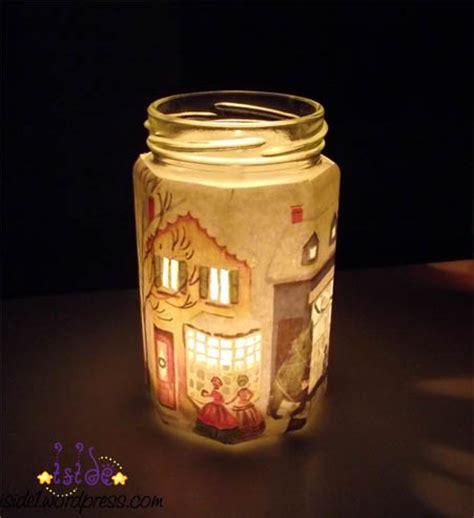 decoupage su candele barattoli di vetro e creativit 224 la figurina
