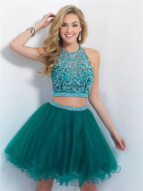 Two Dress Green Import aliexpress buy halter sleeveless beaded backless blue and lime green two