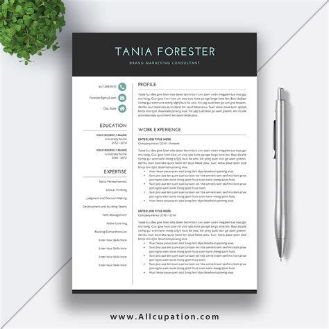 creative resume templates for mac pages creative resume template modern cv template word cover