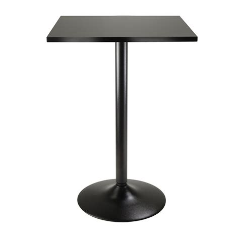 high top bar table bases amazon com winsome obsidian high table square black mdf