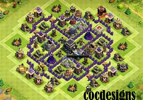 th8 base layout december update town hall 7 farming base layout with town hall inside