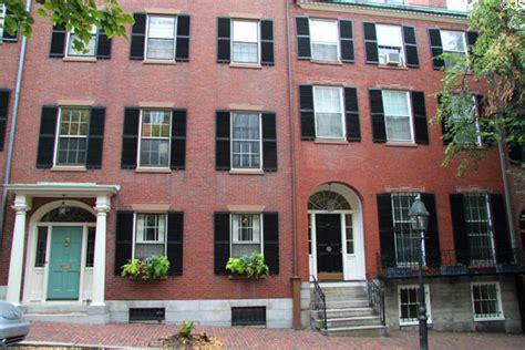 Boston Row Houses - typical beacon hill brick row houses boston ma