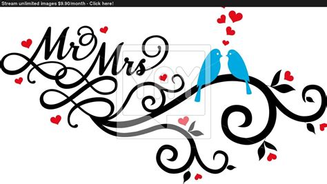 eps format wedding clip art mr and mrs wedding birds vector vector yayimages com