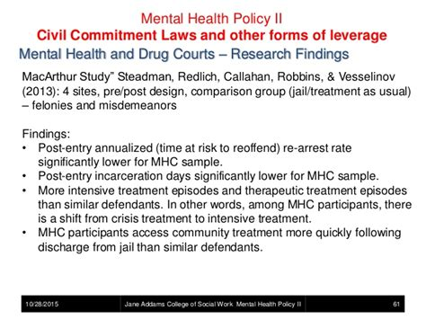 section 61 mental health act mental health policy mental illness and the criminal