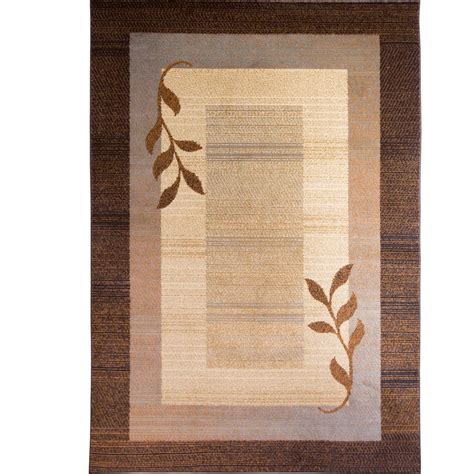 Home Dynamix Royalty Brown Blue 5 Ft 2 In X 7 Ft 2 In Home Dynamix Area Rug
